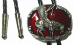 INDIAN ON HORSE bolo tie